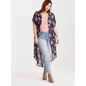 Blue Floral Duster Kimono